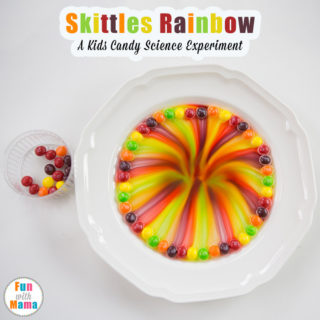 skittles rainbow science experiment