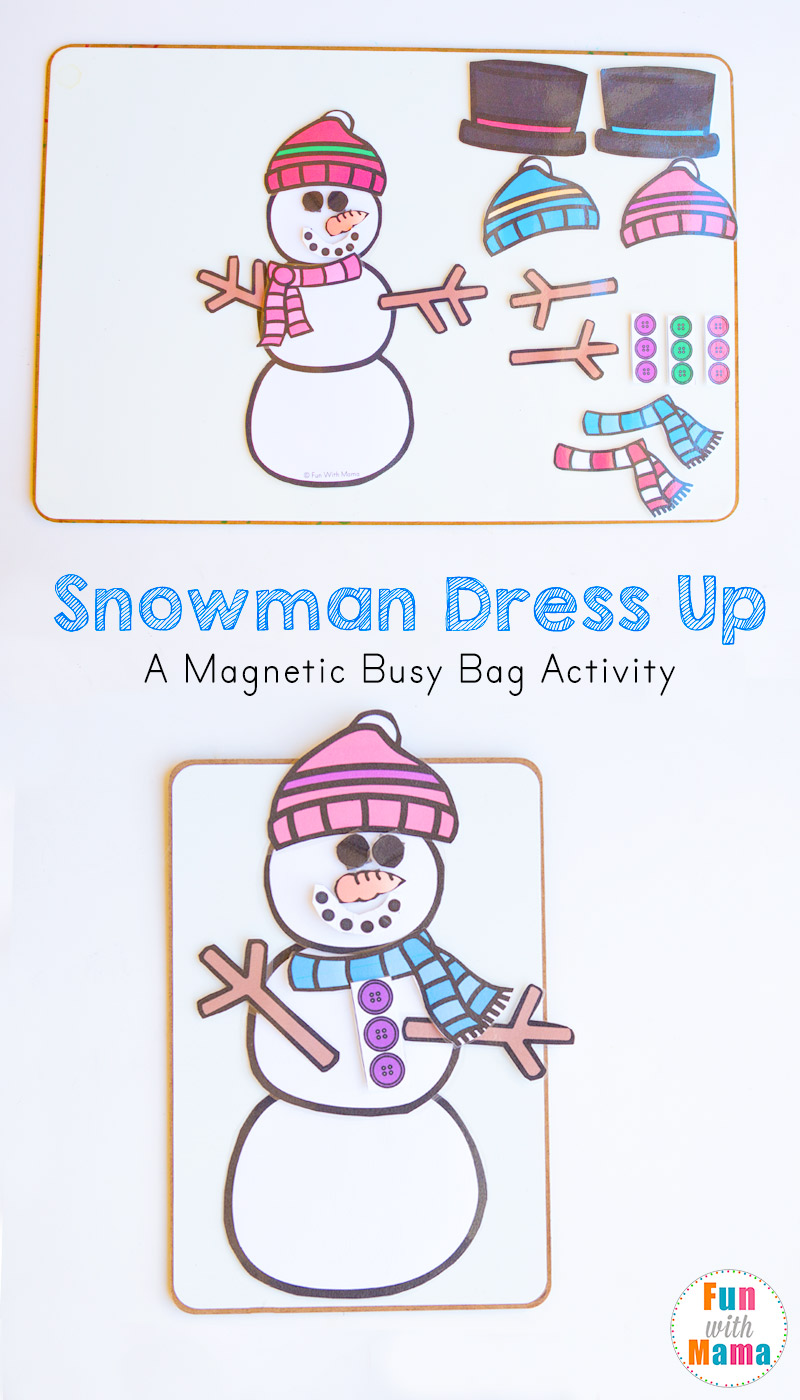 snowman busy bag kids