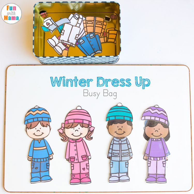 graphic about Printable Dress Up Paper Dolls known as Printable Wintertime Paper Dolls Costume Up Occupied Bag - Pleasurable with Mama