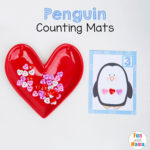Penguin Free Printable Counting Mats