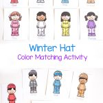 Winter Hat Color Matching Activity for Toddlers
