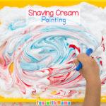 Shaving Cream Painting Process Art for Preschoolers