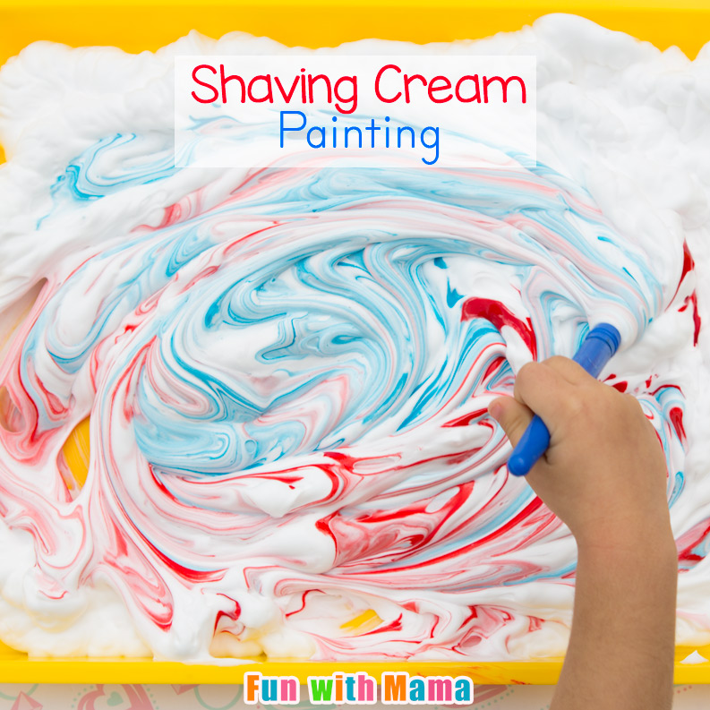 Shaving cream painting process art for preschoolers fun for Painting ideas for 4 year olds