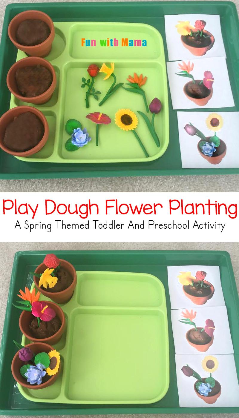 active games for preschoolers preschool flower planting play dough activity 218