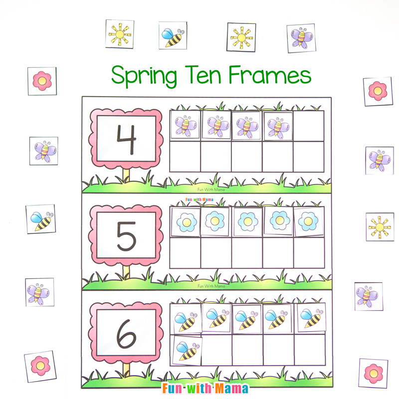 photo about Ten Frame Printable known as Spring 10 Body Printable - Exciting with Mama
