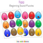 Alphabet Beginning Letter Sound Match Eggs