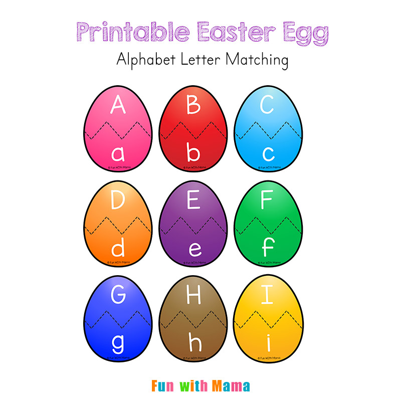 picture regarding Alphabet Puzzle Printable known as Easter Alphabet Letter Recreation Game for Preschoolers - Exciting