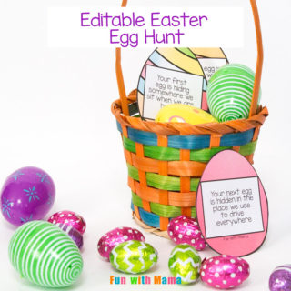 Editable Easter Egg Scavenger Hunt