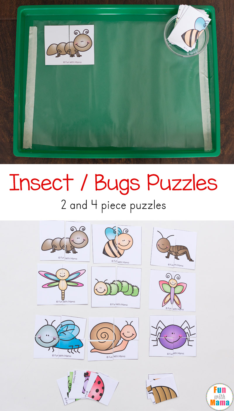 insect theme printable puzzles fun with mama
