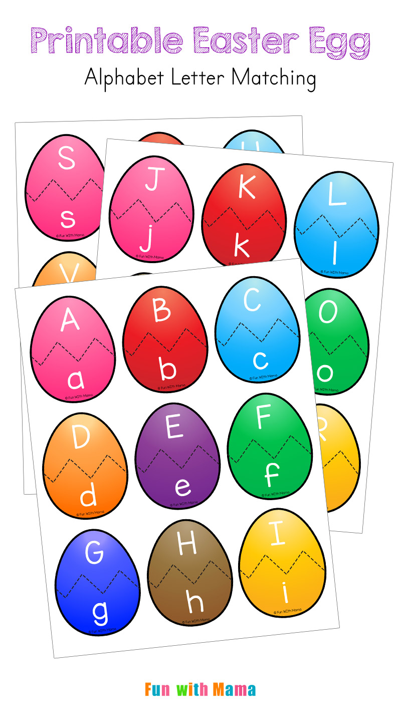 photo relating to Printable Easter Egg titled Easter Alphabet Letter Video game Sport for Preschoolers - Enjoyable