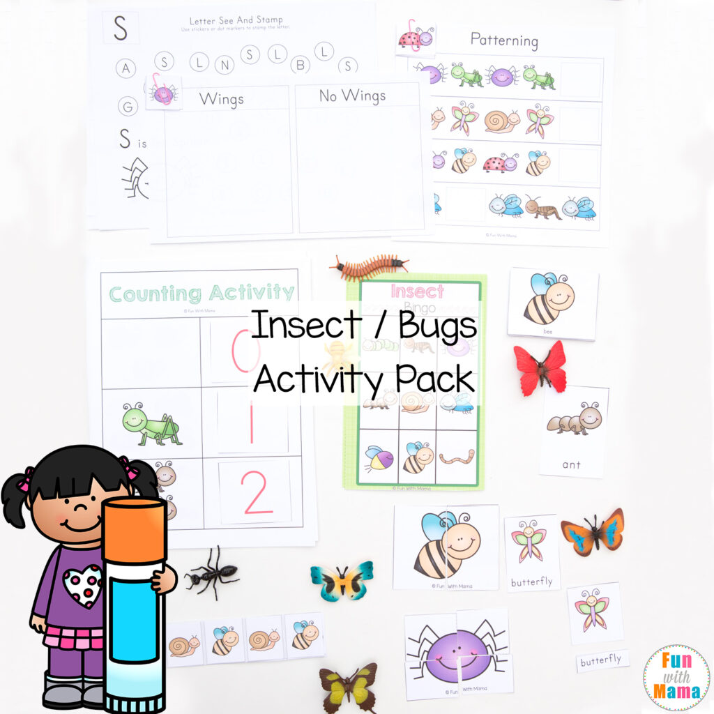how many insects in the jar spring counting activity fun with mama