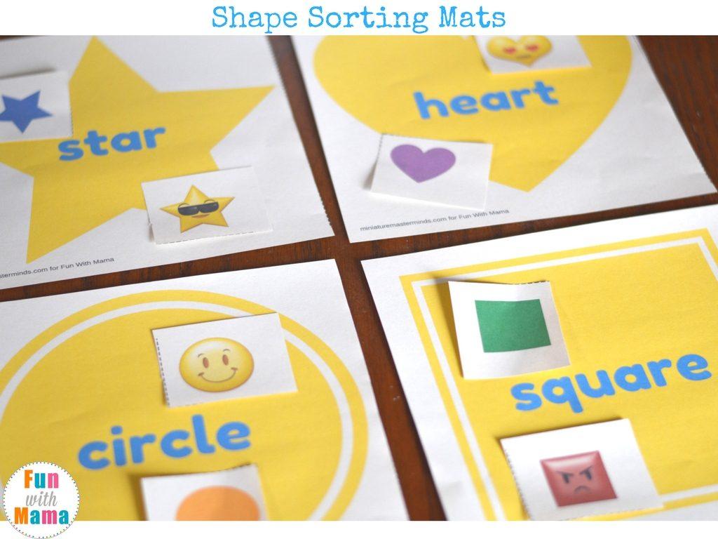 shapes sorting mats