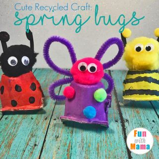 How To Make A Cute Recycled Craft: Spring Bugs