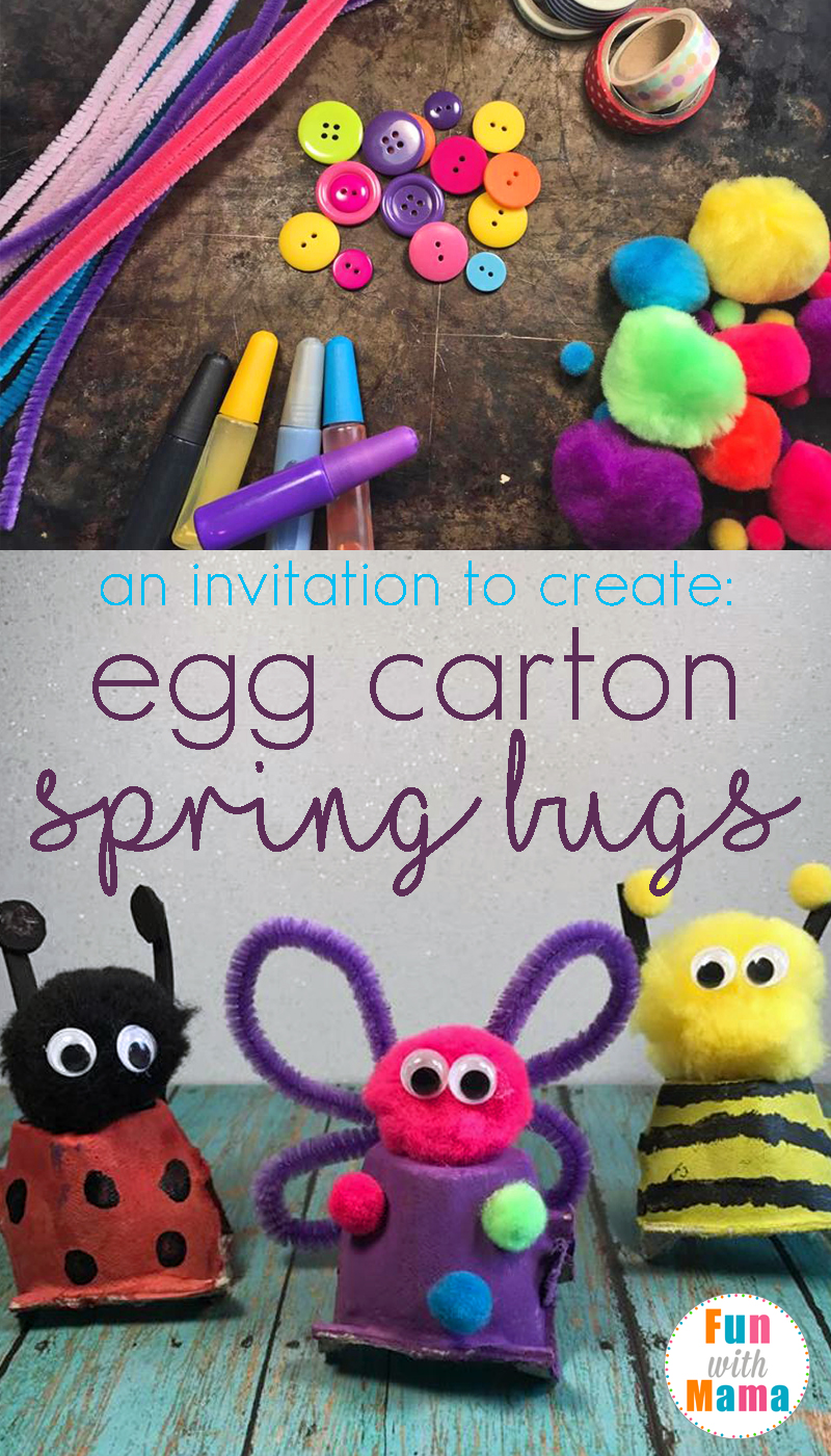 Invitation To Create Cute Spring Bugs Craft With Recycled Egg Cartons