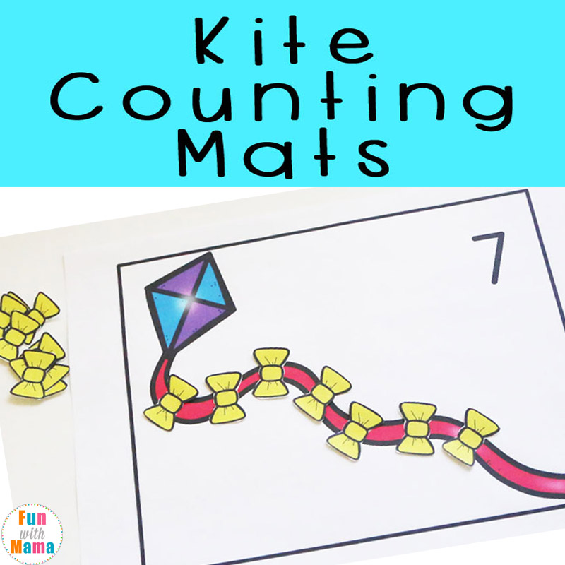 printable preschool counting mats