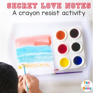 Crayon Resist Painting Secret Love Notes