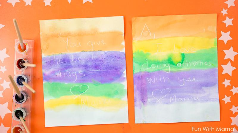 crayon resist watercolors