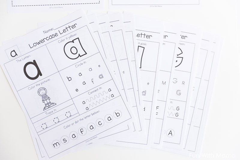 Printable Alphabet Letter Worksheets Fun with Mama – Free Alphabet Worksheets