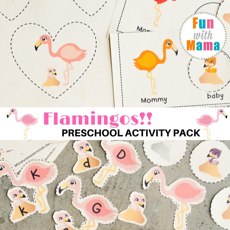Flamingos Preschool Pack