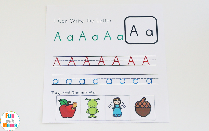 alphabet letter tracing worksheets pdf