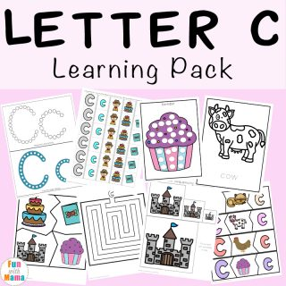 Letter C Preschool Printable Pack