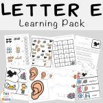 Free Letter E Printable Pack