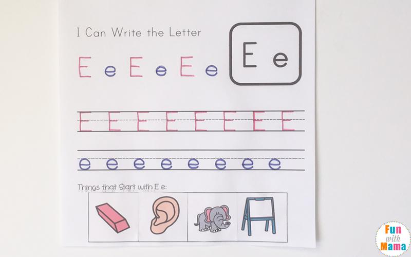 letter e activities for preschool