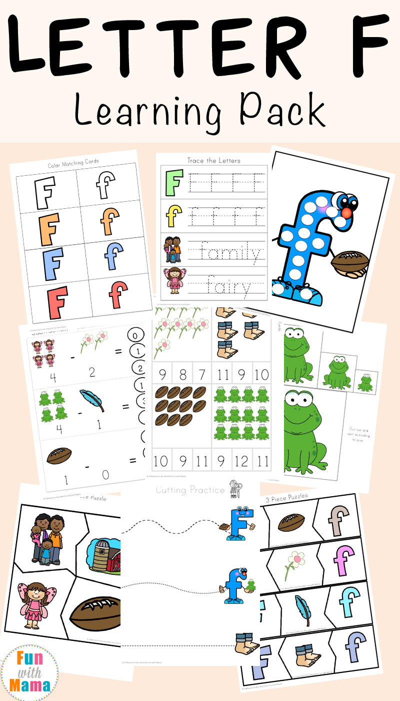 free letter f worksheets
