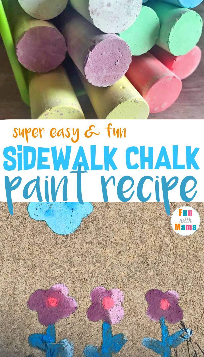 Super Easy & Fun Sidewalk Chalk Paint Recipe. A quick DIY Play Recipe for summer.
