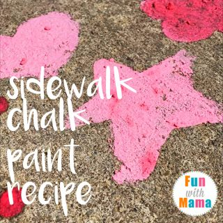 uper Easy & Fun Sidewalk Chalk Paint Recipe. A quick DIY Play Recipe for summer.