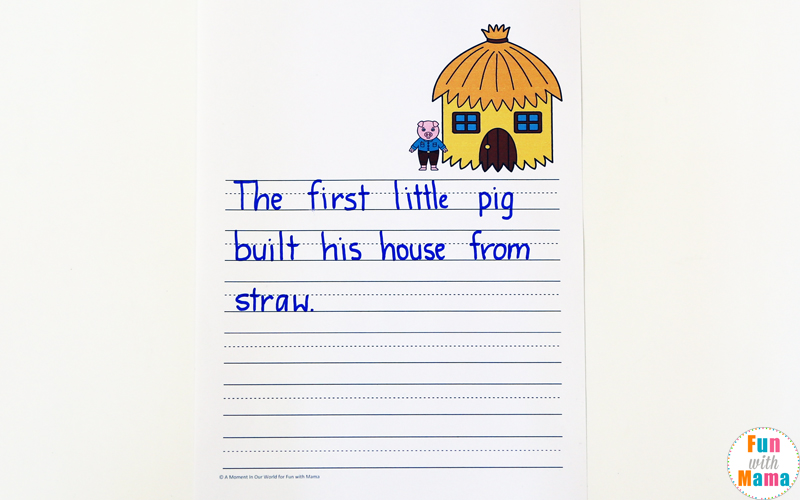 three little pigs worksheets