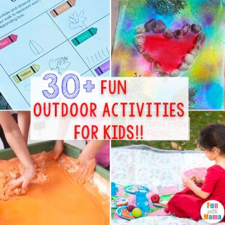 30 + Fun MUST DO Outdoor Activities For Kids!