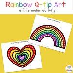 Rainbow Q Tip Art Printable
