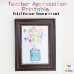 Printable End of the Year Teacher Appreciation Gift Fingerprint