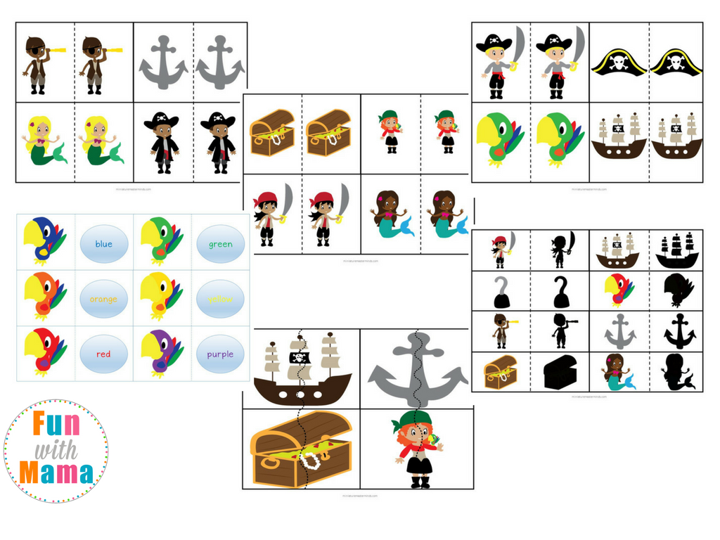 graphic relating to Pirates Printable Schedule identify Pirate Topic Printable Preschool Pack - Pleasurable with Mama