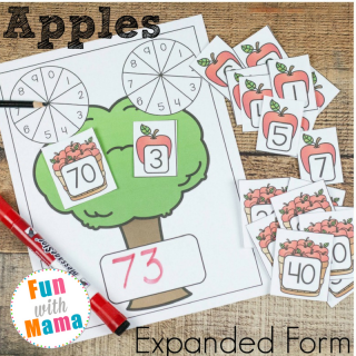 Enhance Math Understanding with Apple Themed Expanded Form