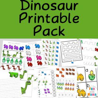 Dinosaur Preschool Printable Pack