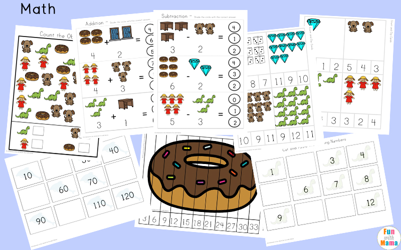 Free printable letter d activities, worksheets, crafts and learning pack.
