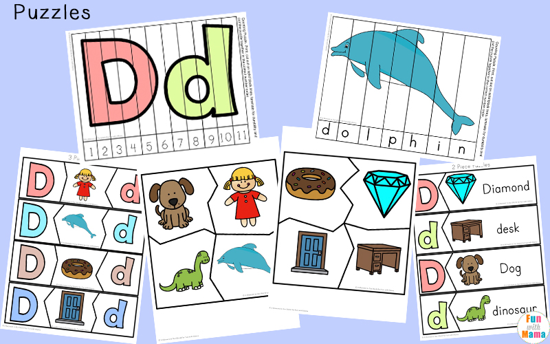 Free Letter D Printable Pack - Fun with Mama