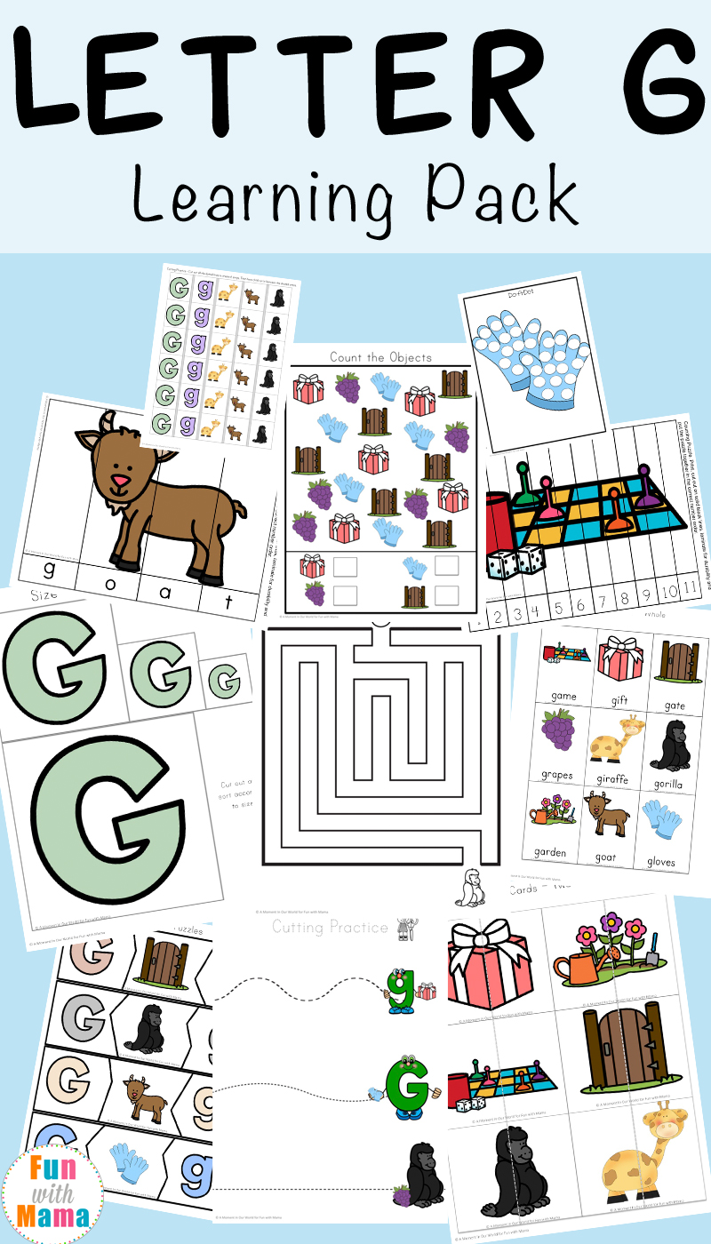 letter g worksheets fun with mama. Black Bedroom Furniture Sets. Home Design Ideas