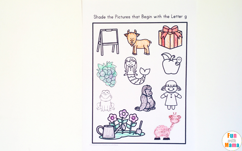 picture regarding Printable Letter G named Letter G Worksheets - Exciting with Mama