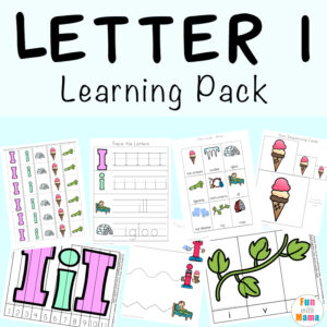 Free printable letter i activities, worksheets, crafts and learning pack.