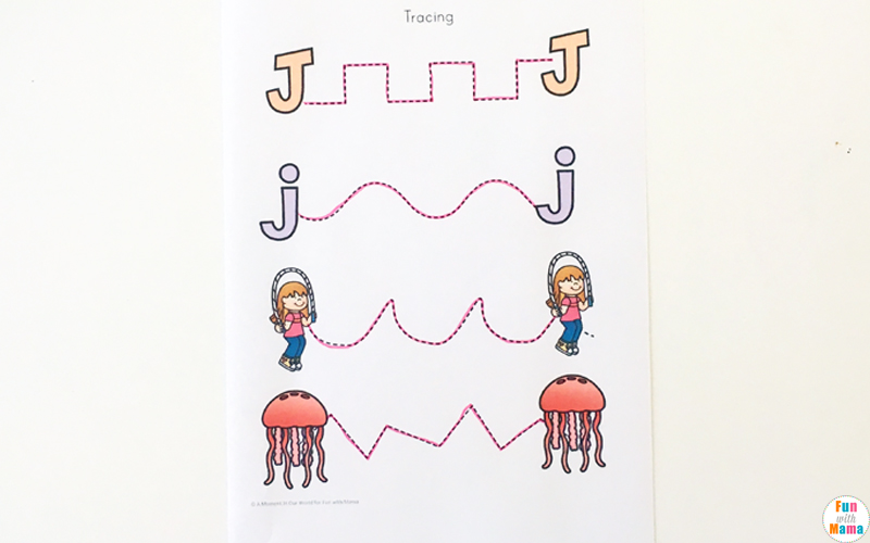 graphic regarding Letter J Printable identified as Letter J Worksheets + Things to do - Enjoyment with Mama