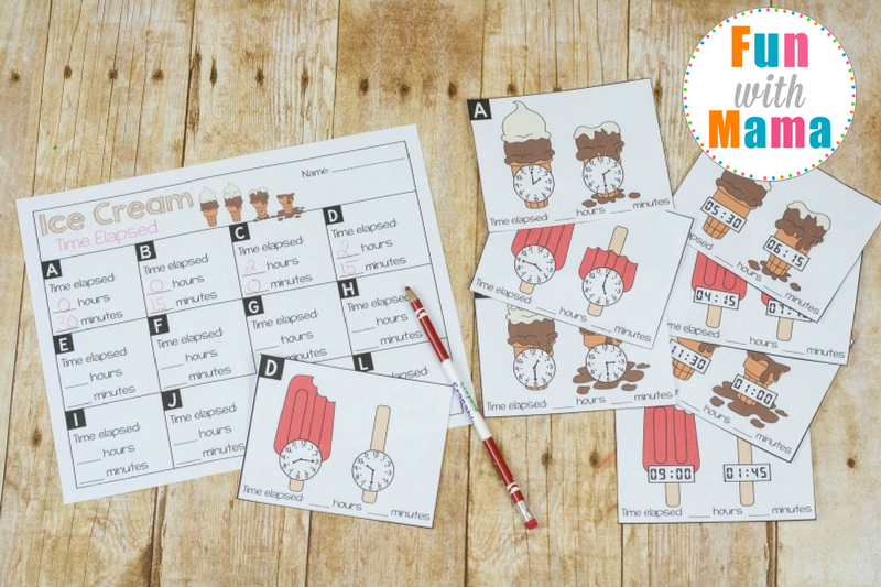 Work on elapsed time skills with these easy printable cards! Includes both analog and digital clocks.