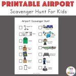 Airport Scavenger Hunt For Kids