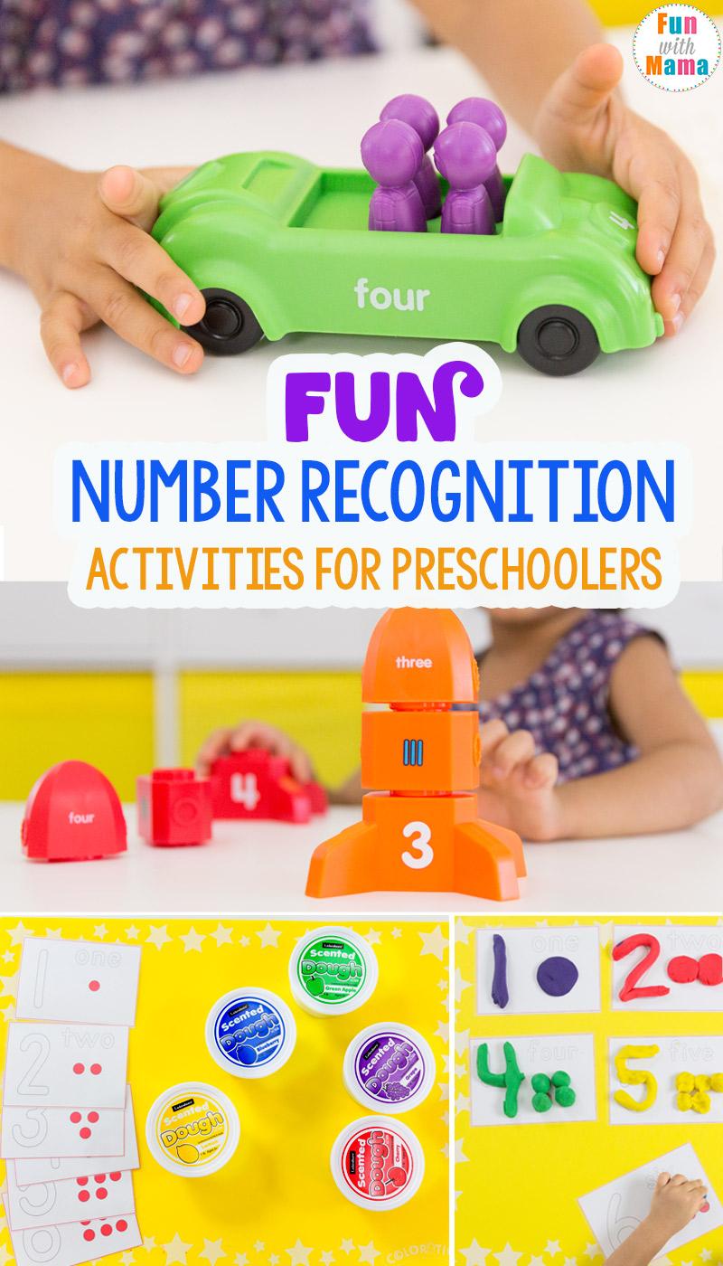 Fun Number Recognition Activities For Preschoolers - Fun ...