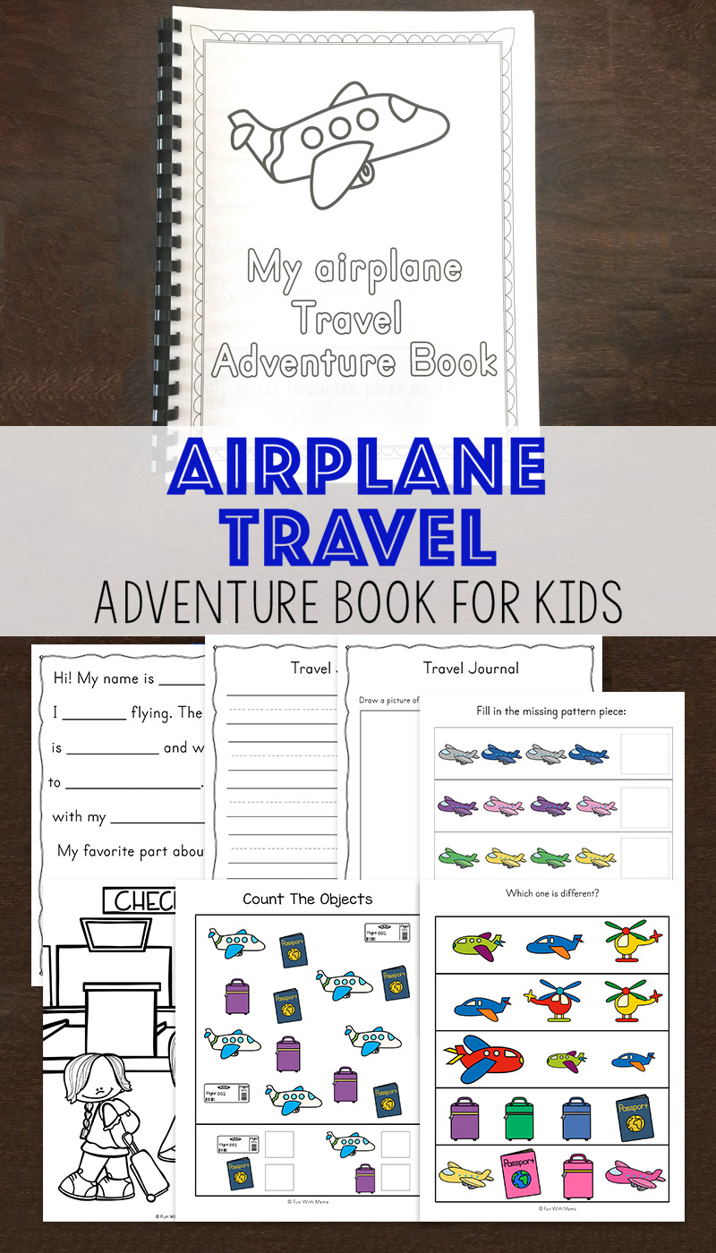 the airplane travel activity book