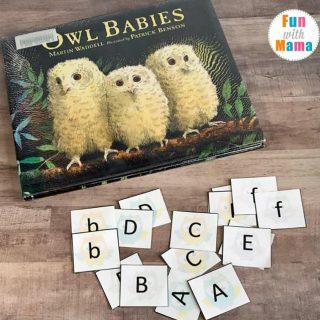 Owl Babies Alphabet Matching Game