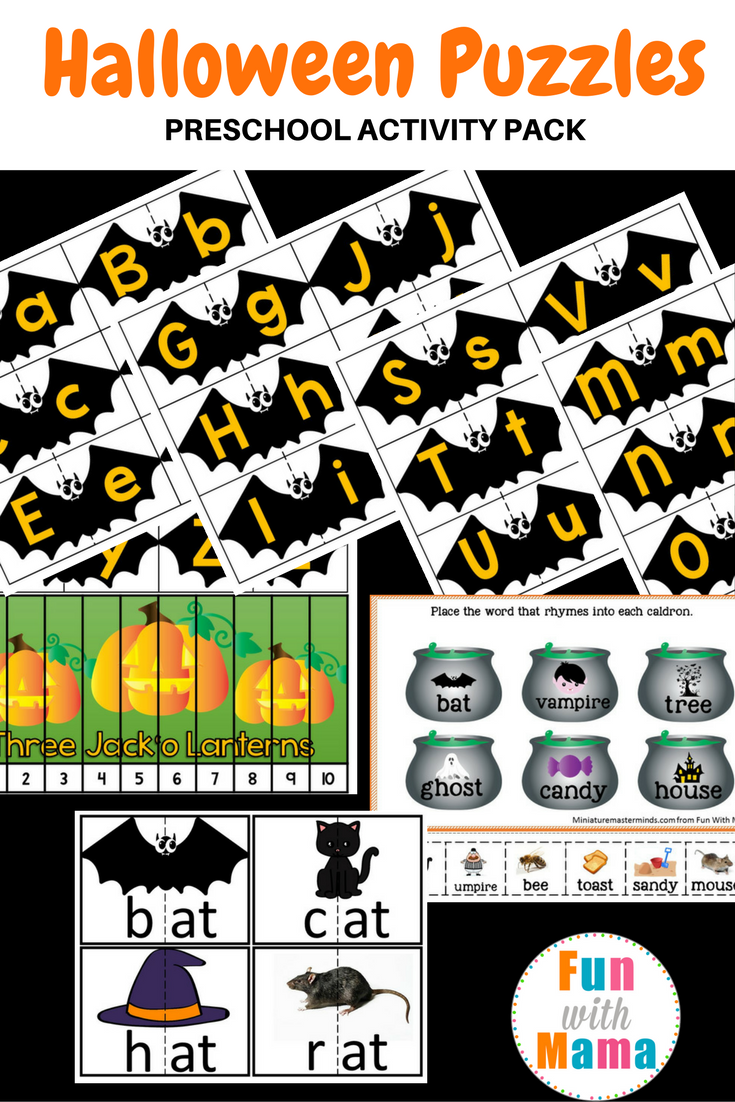 halloween puzzles preschool activity pack fun with mama