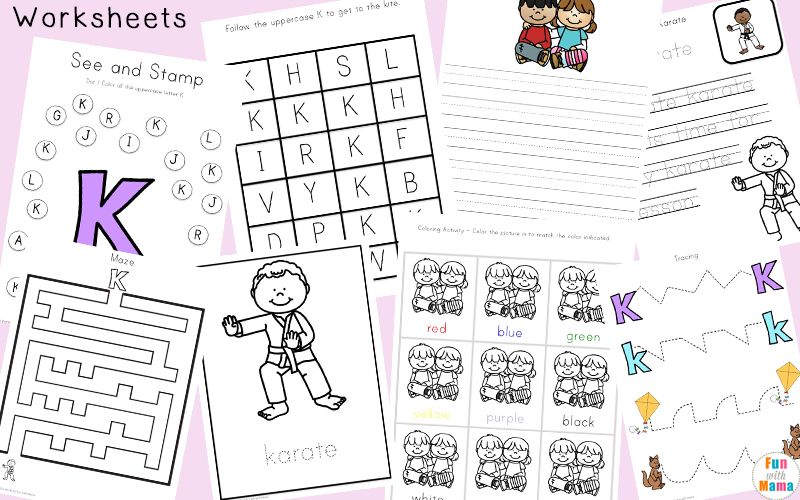 Letter K Activities for Preschool Printable Pack Fun with Mama – Letter K Worksheets for Preschoolers